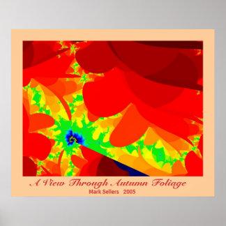 A View Through Autumn Foliage Poster
