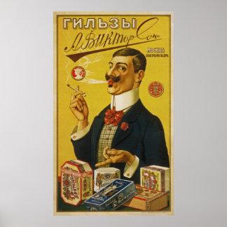 A.Viktorson's Cigarette Papers ~ Russia ~ 1905 Poster