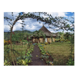 A village in the Highlands, Goroka, Papua New Postcard