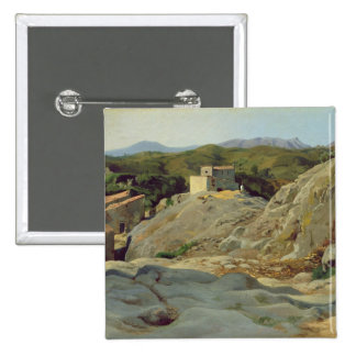 A Village in the Mountains 15 Cm Square Badge
