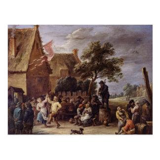 A Village Merrymaking Postcard