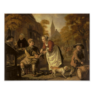 A Village Scene with a Cobbler, c.1650 Poster