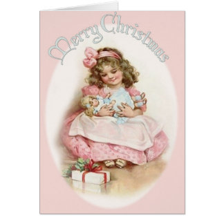 A Vintage Christmas Cutie Card