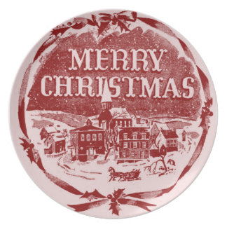 A Vintage Christmas Dinner Plate