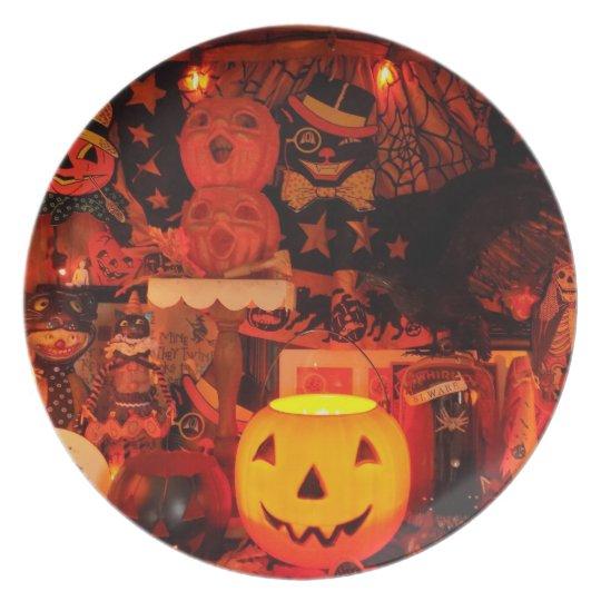 A Vintage Halloween Melamine Plate