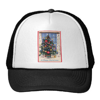 A Vintage  Happy Christmas Tree Hats