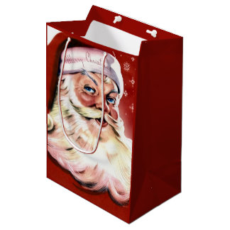 A Vintage Santa Medium Gift Bag