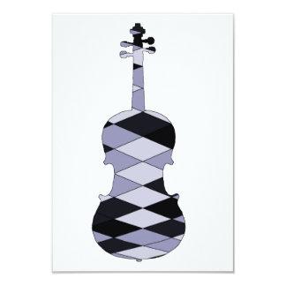 A Violin 9 Cm X 13 Cm Invitation Card