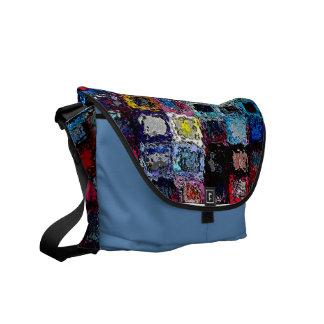 A Vision of Windows decorative art rickshaw messen Courier Bags
