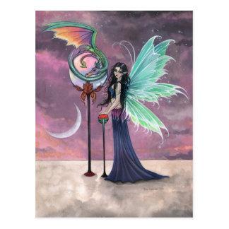 A Vivid Dream Fairy and Dragon Postcard