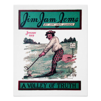 A Volley Of Truth - Vintage Golf Print
