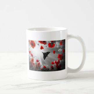 A Vulcan Poppy red Coffee Mug