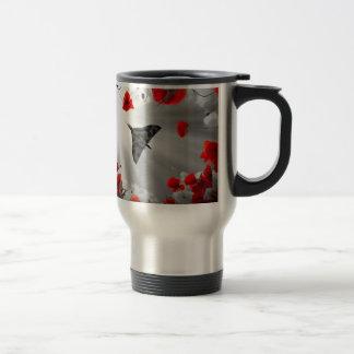 A Vulcan Poppy red Travel Mug