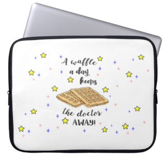 A Waffle a day Keeps the Doctor Away! Laptop Sleeves