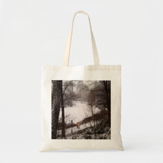A Walk Around The Pond On A Winter Day Tote Bag