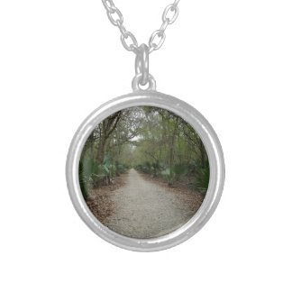 A walk in Nature Silver Plated Necklace