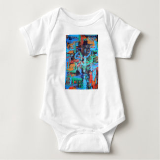 A Walk In The Forest - Abstract Art Brushstrokes Baby Bodysuit