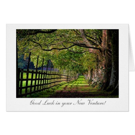 A Walk In The Park - Good Luck in your New Venture Card