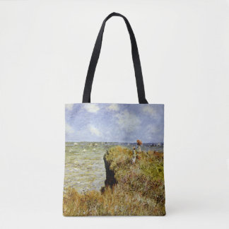 A Walk on the Cliffs at Pourville Tote Bag