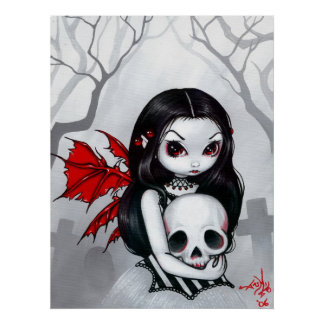 A Walk through the Cemetery ART PRINT gothic fairy