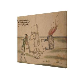 A War Machine, illustration from 'De Machinis' Gallery Wrap Canvas