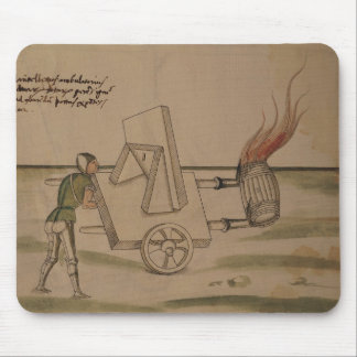 A War Machine, illustration from 'De Machinis' Mouse Pad