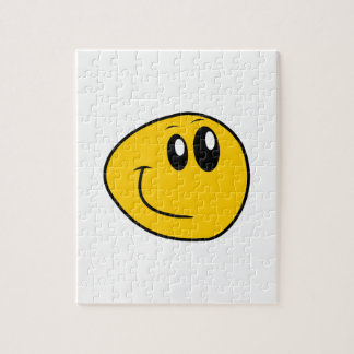 A Warped Yellow Happy Smiley Jigsaw Puzzle