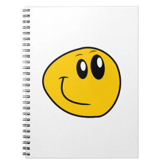 A Warped Yellow Happy Smiley Notebooks