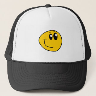 A Warped Yellow Happy Smiley Trucker Hat