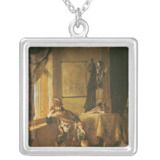 A Warrior in Thought Silver Plated Necklace