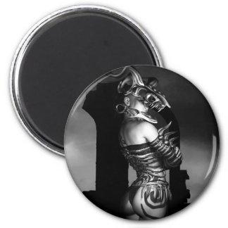 A Warrior Stands Alone 6 Cm Round Magnet