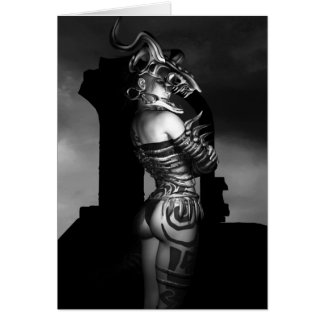 A Warrior Stands Alone Greeting Card