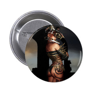 A Warrior Stands Alone Pinback Buttons