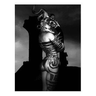 A Warrior Stands Alone Postcard
