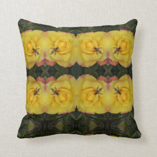 a wasp and a rose cushion