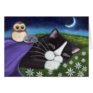A Watchful Eye   Fantasy Cat Art Greeting Card