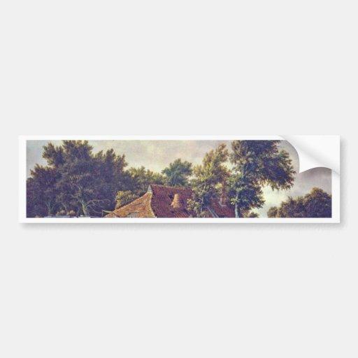 A Watermill. [1] By Meindert Hobbema (Best Quality Bumper Sticker