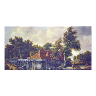 A Watermill. [1] By Meindert Hobbema (Best Quality Customized Photo Card