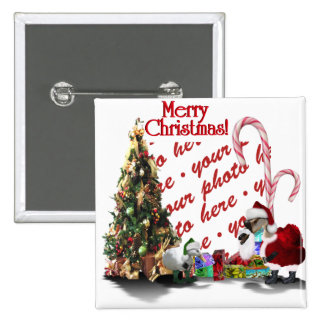 A Web Footed Christmas 15 Cm Square Badge