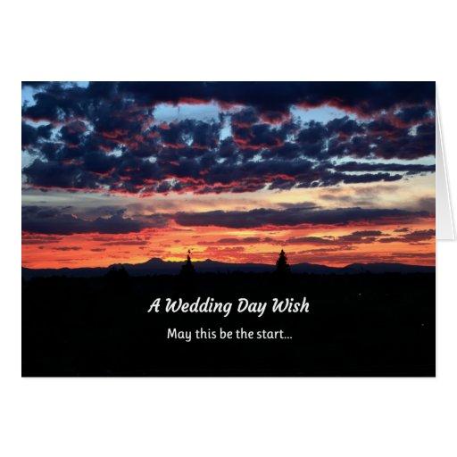 A Wedding Day Wish Card
