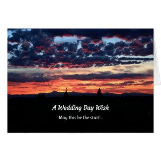 A Wedding Day Wish Greeting Card