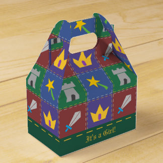 A Wee One's Fantasy Quilt Baby Shower Favor Box