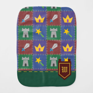 A Wee One's Fantasy Quilt Burp Cloth