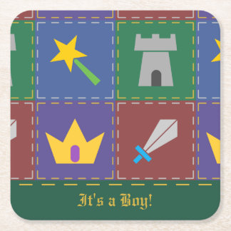A Wee One's Fantasy Quilt Shower Paper Coasters