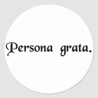 A welcome person sticker