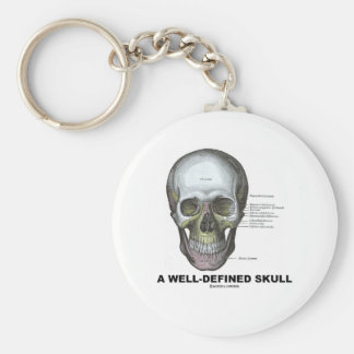 A Well-Defined Skull (Medical Anatomy) Basic Round Button Key Ring