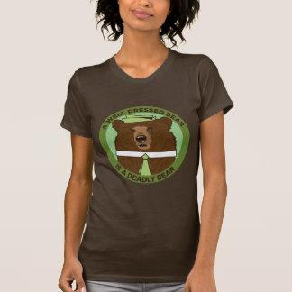 A Well Dressed Bear Is A Deadly Bear T-Shirt