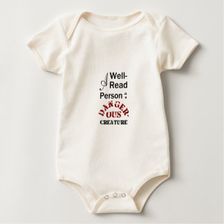 A Well-Read Person is a Dangerous Creature Baby Bodysuit