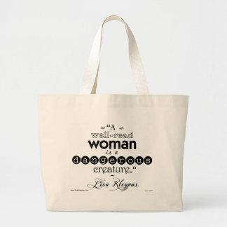 A Well-Read Woman. . .Bag Jumbo Tote Bag