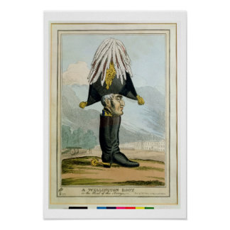 A Wellington Boot - or the Head of the Armye, Poster